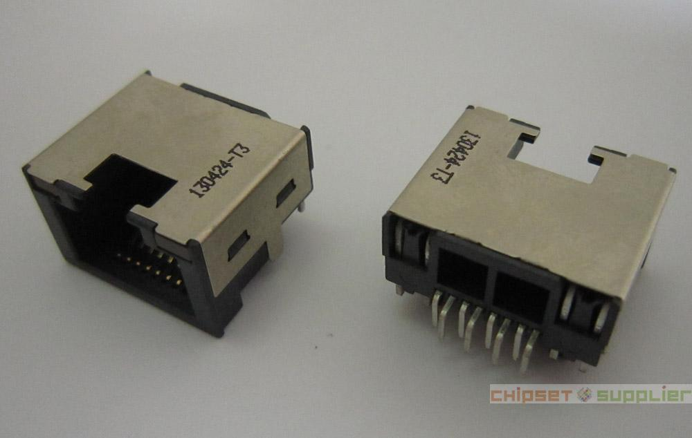 RJ45 Jack With LED fit for Laptop MotherBoard, NT140424-T3