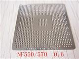 BGA Reballing Stencil, Template for NVIDIA NF550 NF570, Heat Directly, Ball 0.6mm