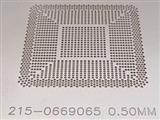 BGA Reballing Stencil, Template for AMD 215-0669065, Heat Directly, Ball 0.5mm