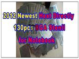 2012 Newest 130pcs Chips Heat Directly BGA Stencils, Template for Notebooks Laptop BD82HM55 SLGFQ BD82P55 I7-620M DDR GPU
